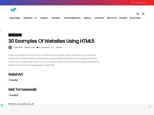http://webdesignledger.com/inspiration/30-examples-of-websites-using-html5#more-1747