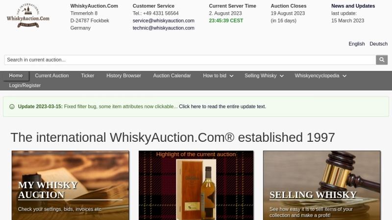 whiskyauction.com Vorschau, WhiskyAuction.Com