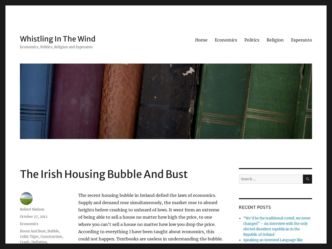 The Irish Housing Bubble And Bust | Whistling In The Wind