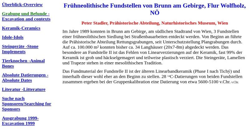 winserion.org Vorschau, Frühneolithische Fundstellen von Brunn