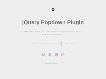 jQuery Popdown Plugin