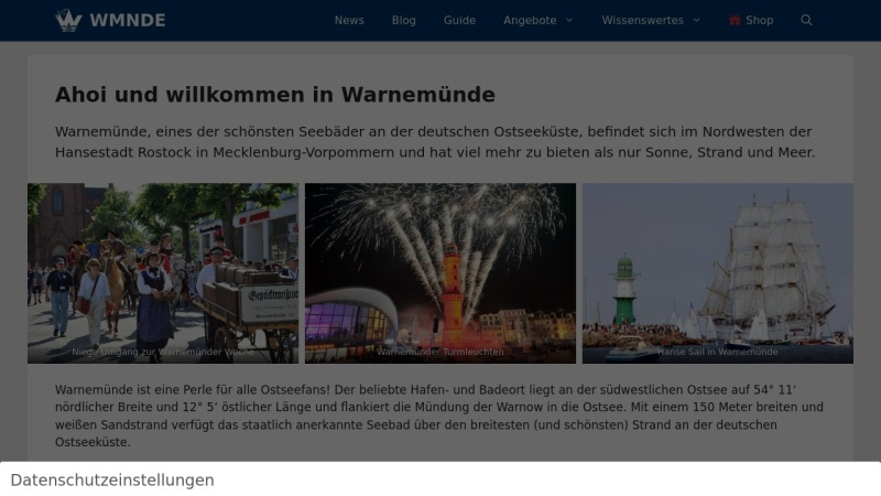wmnde.de Vorschau, Warnemünde-Portal