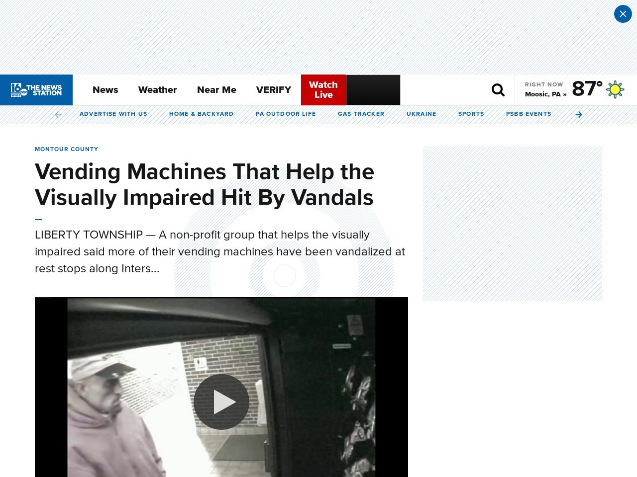 Vending Machines That Help the Visually Impaired Hit By Vandals