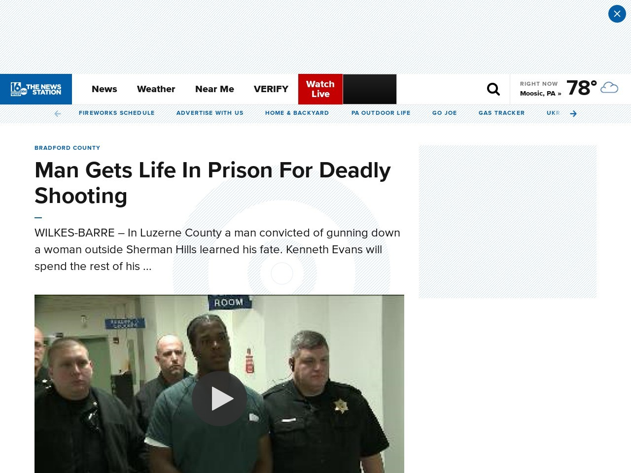 Man Gets Life In Prison For Deadly Shooting
