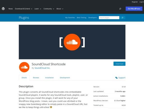 http://wordpress.org/extend/plugins/soundcloud-shortcode/