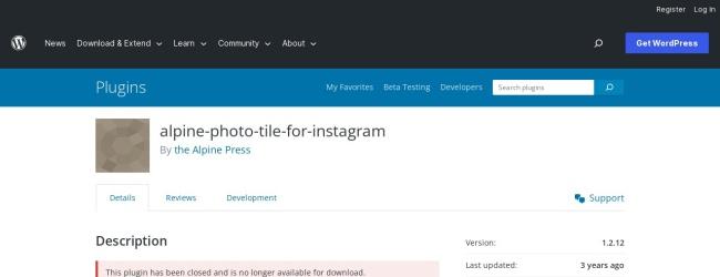 Instagram WordPress Plugin