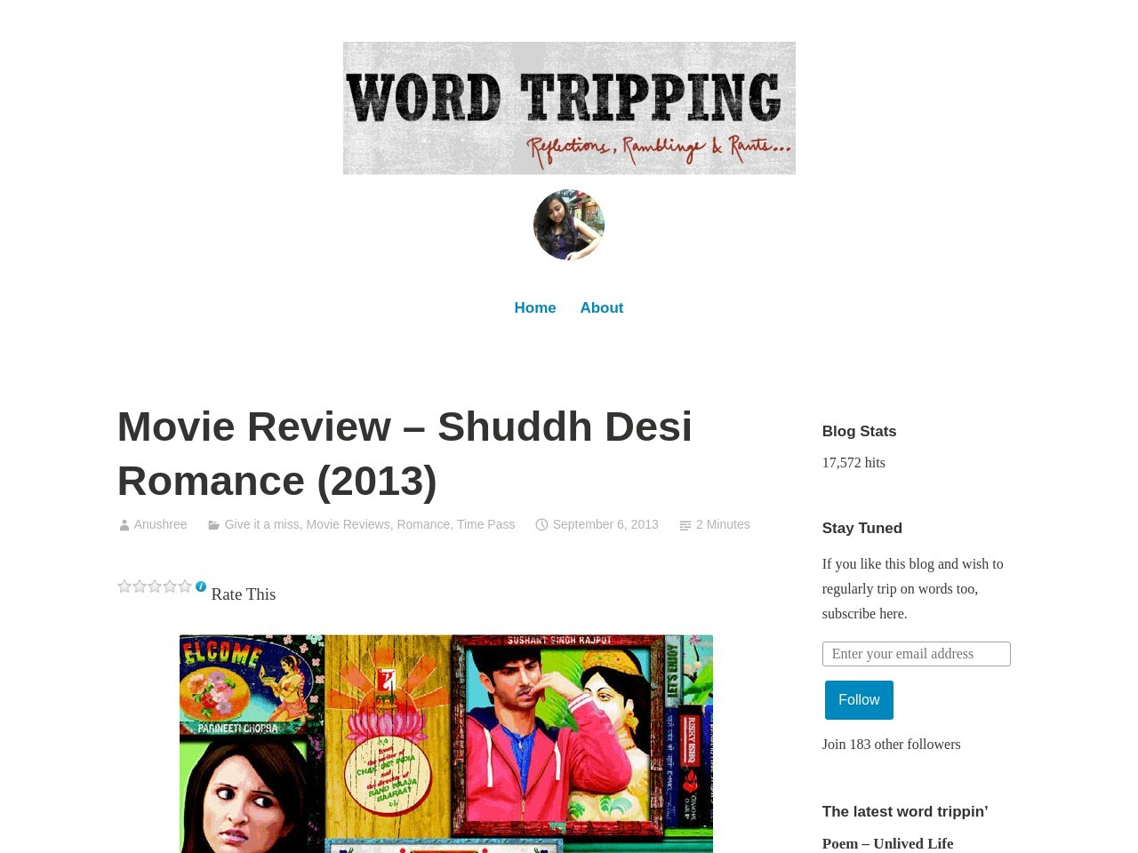 Movie Review – Shuddh Desi Romance (2013) | Word Tripping