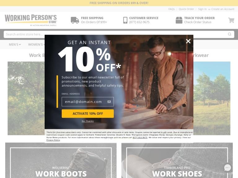 WorkingPerson.com screenshot