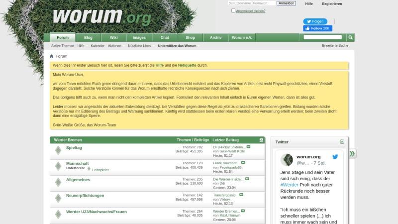 worum.org Vorschau, Worum - So geht Forum heute