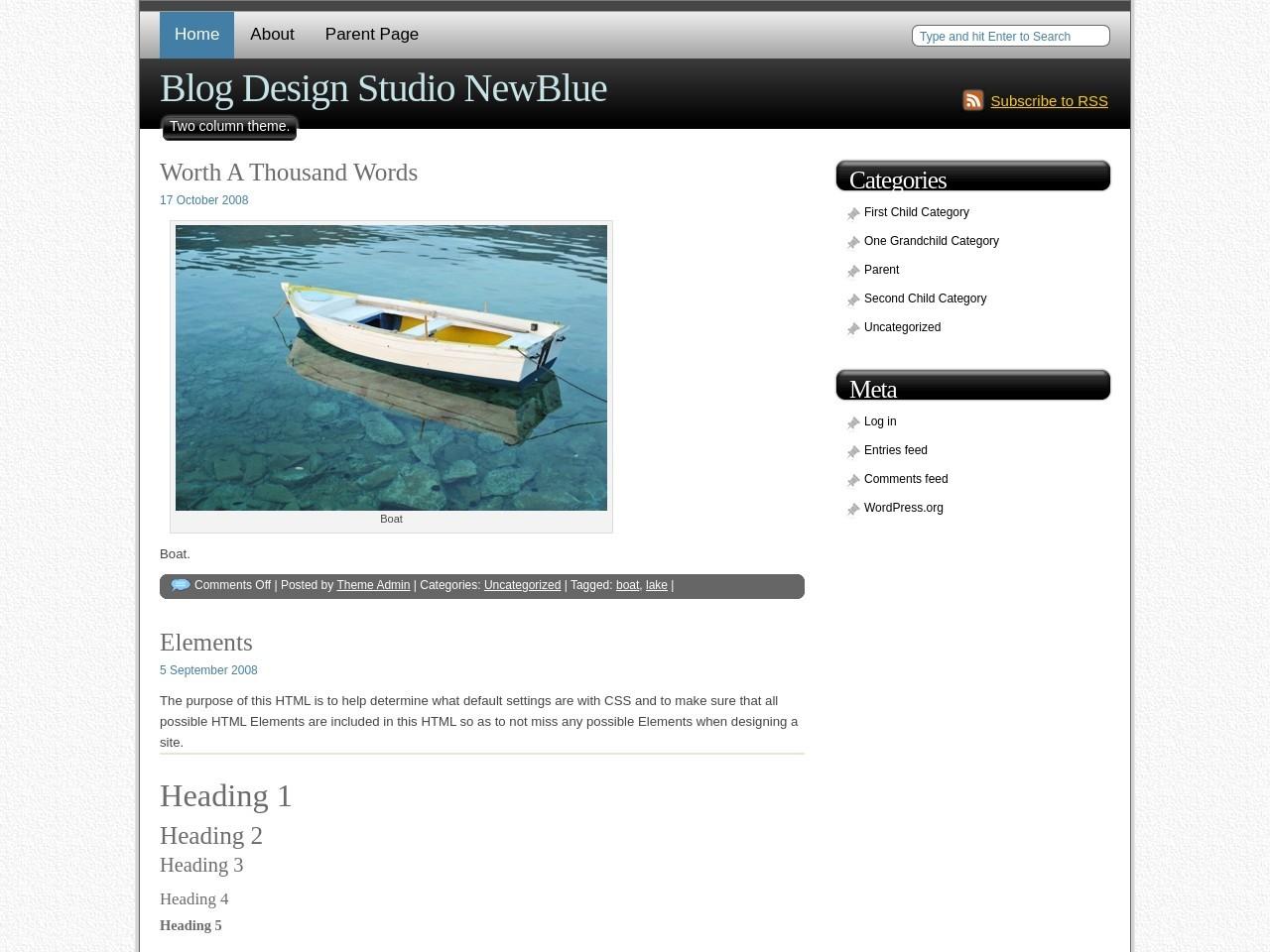 Blog Design Studio NewBlue WordPress Theme
