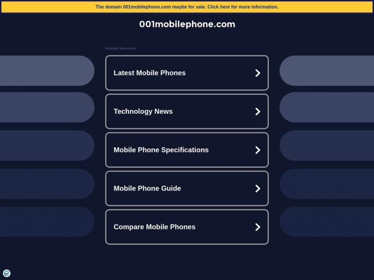 001mobilephone.com screenshot