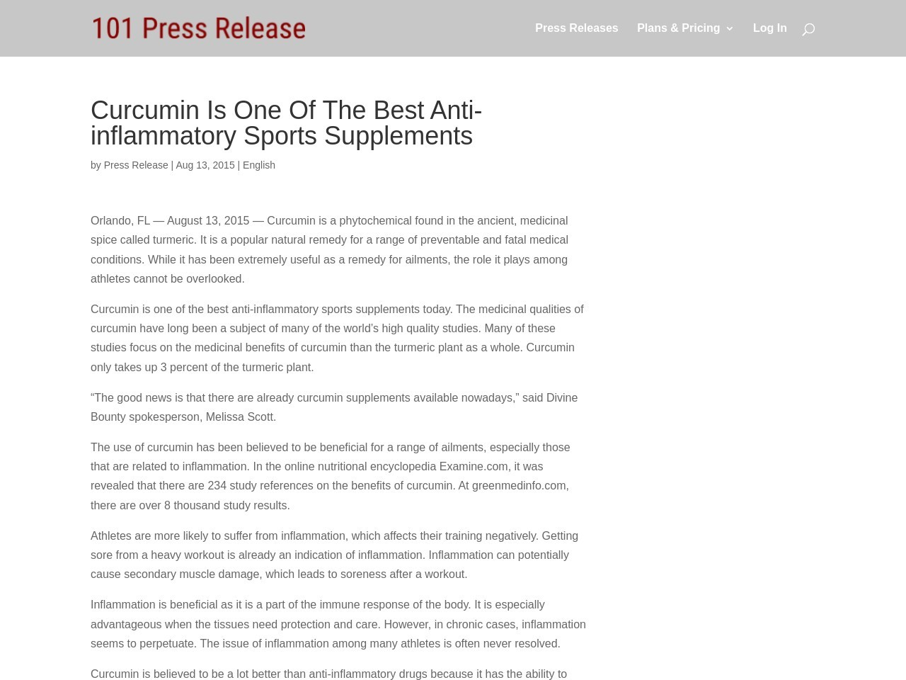 Curcumin Is One Of The Best Anti-inflammatory Sports …