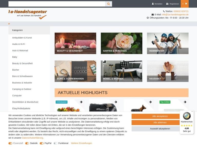 1a-Handelsagentur.de screenshot