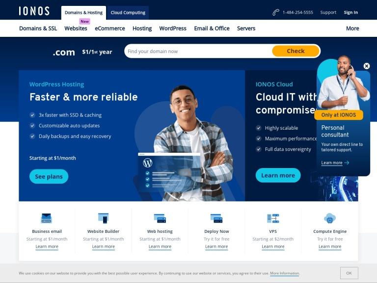 1&1 Usa Affiliate Program: Domains, Web Hosting & More. screenshot