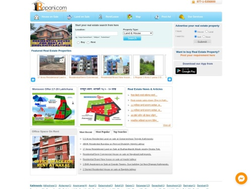 Real Estate Website of Nepal – Land, House, Apartments on sale or rent