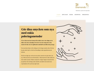 Skärmdump för 21diamonds.se