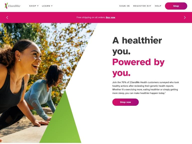 23andme.com screenshot