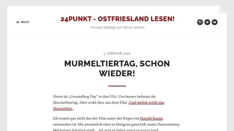 www.24punkt.de Vorschau, Mediengestalter Blog über Werbung und Privates