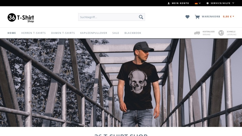 www.36-tshirts.com Vorschau, 36 T-Shirt Shop, Patrick Pestemalzian
