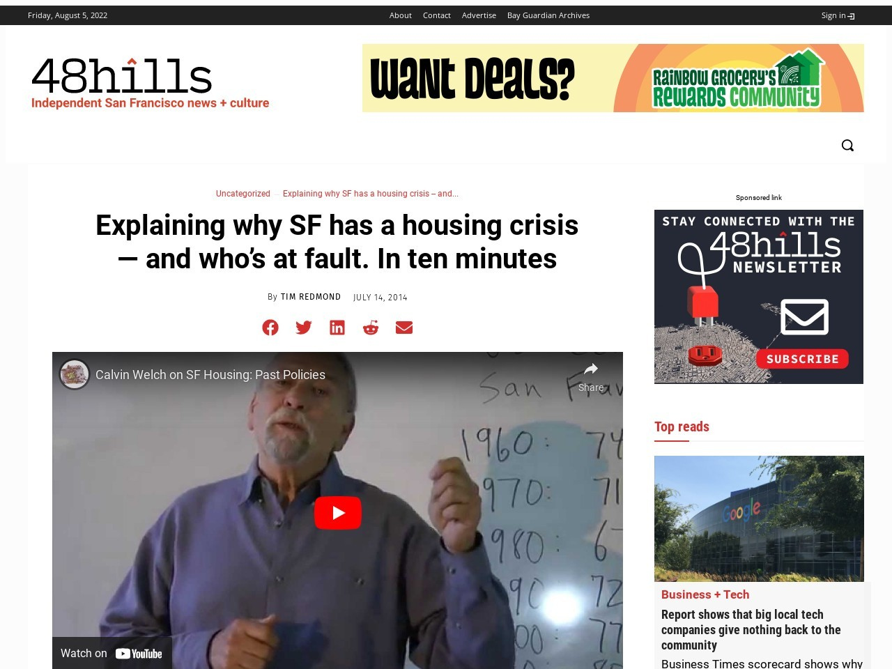 Explaining why SF has a housing crisis — and who's at fault …