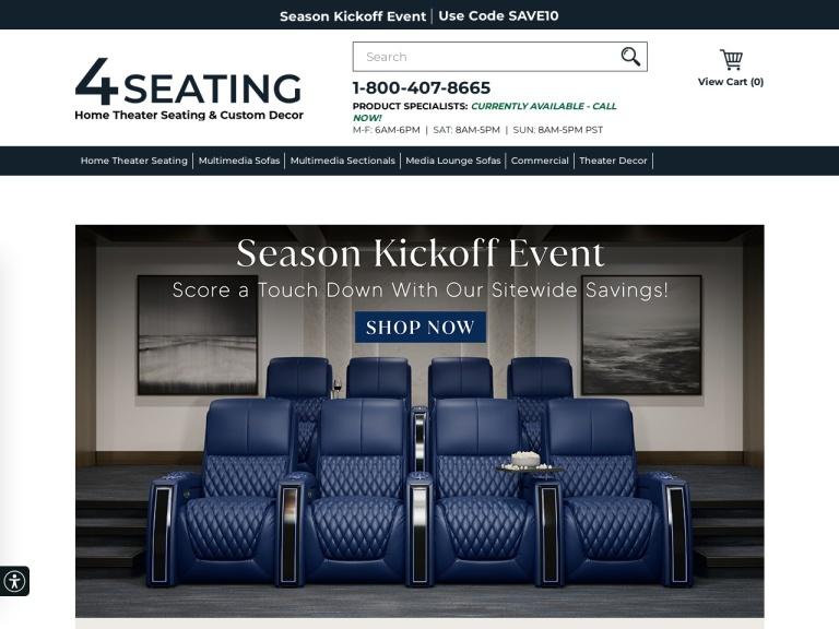 4seating.com screenshot