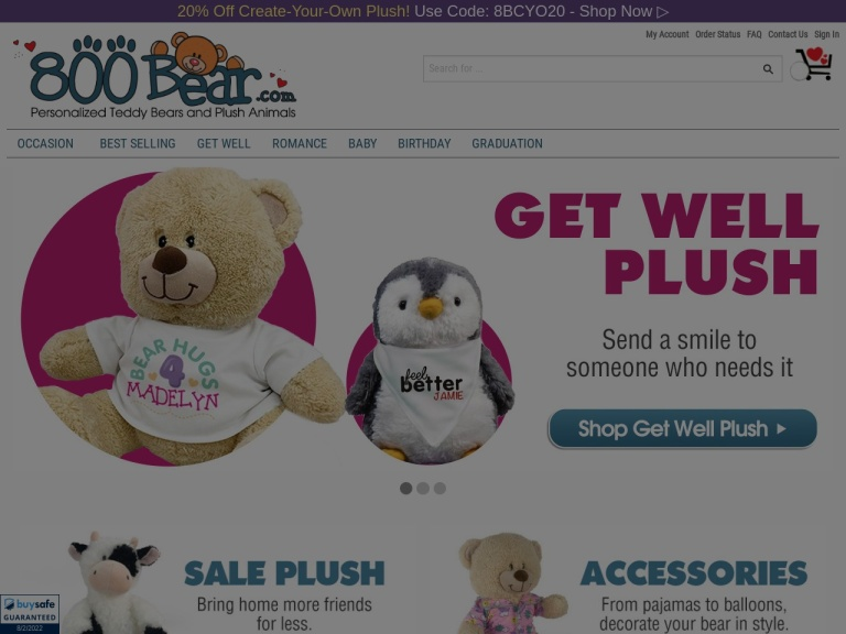 800Bear.com screenshot