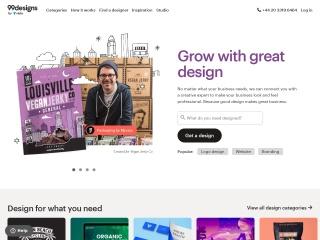 Screenshot for 99designs.ie