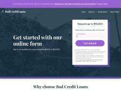 Badcreditloans.com screenshot