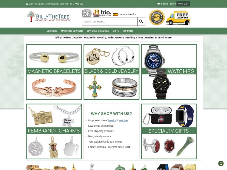 Billythetree Jewelry & Watches screenshot