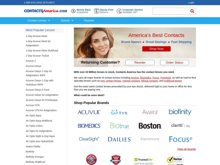 Contactsamerica screenshot