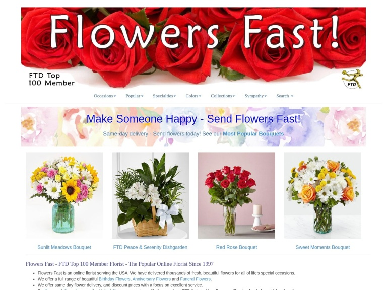 Flowers Fast Coupon Codes & Promo codes