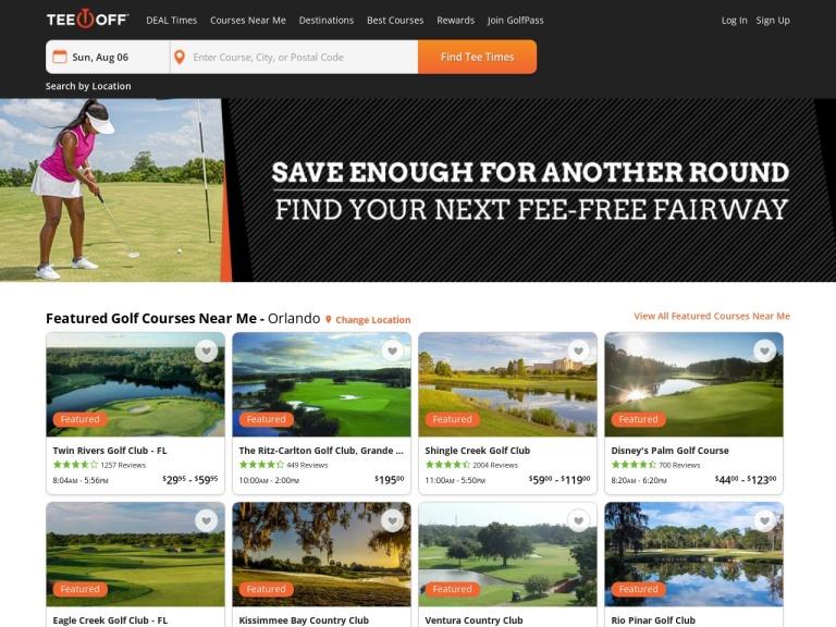 Golf18 Network screenshot