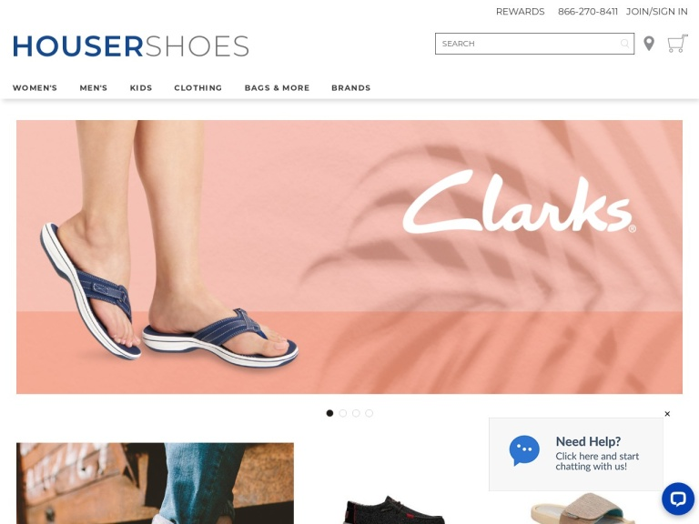 Housershoes.com screenshot