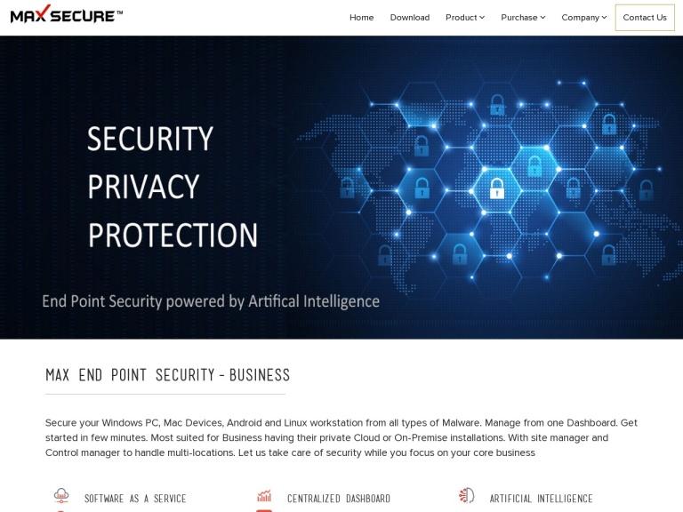 Maxpcsecure screenshot