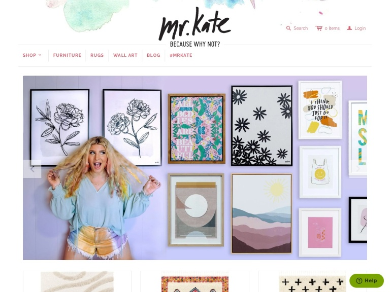 Mrkate.com screenshot