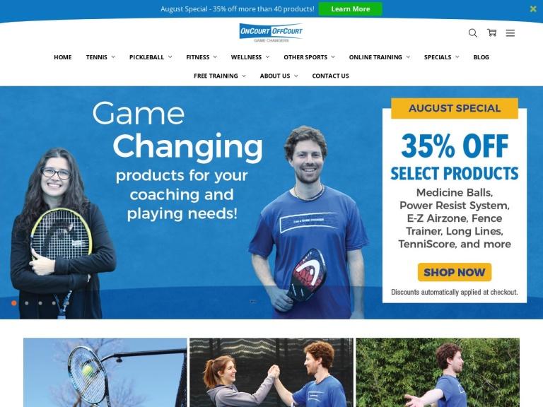 Oncourt Offcourt, Ltd.-Leading Tennis Equipment screenshot