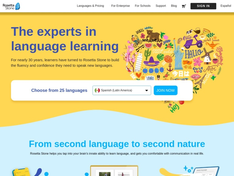 Rosetta Stone Language Software screenshot