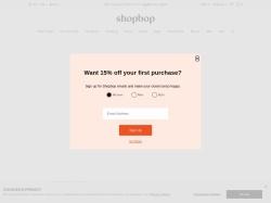 ShopBop Coupon Codes screenshot