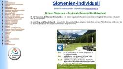 www.Slowenien-individuell.de Vorschau, Vermittlung von Unterkünften in Slowenien