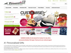 A1personalised.co.uk Promo Codes 2018
