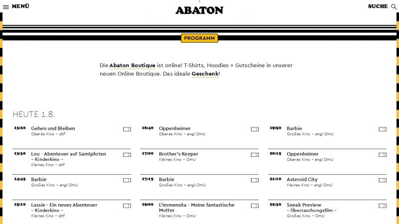 www.abaton.de Vorschau, Abaton