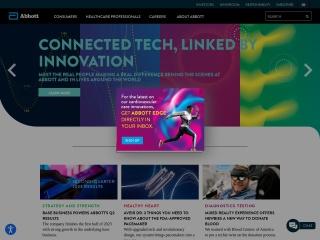 Captura de pantalla para abbott.com