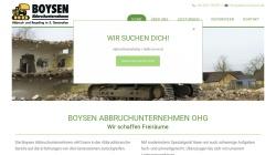 www.abbruch-boysen.de Vorschau, Boysen Abbruchunternehmen oHG