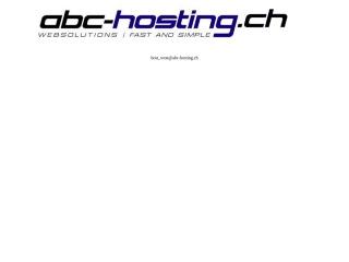 Screenshot der Website abc-hosting.ch