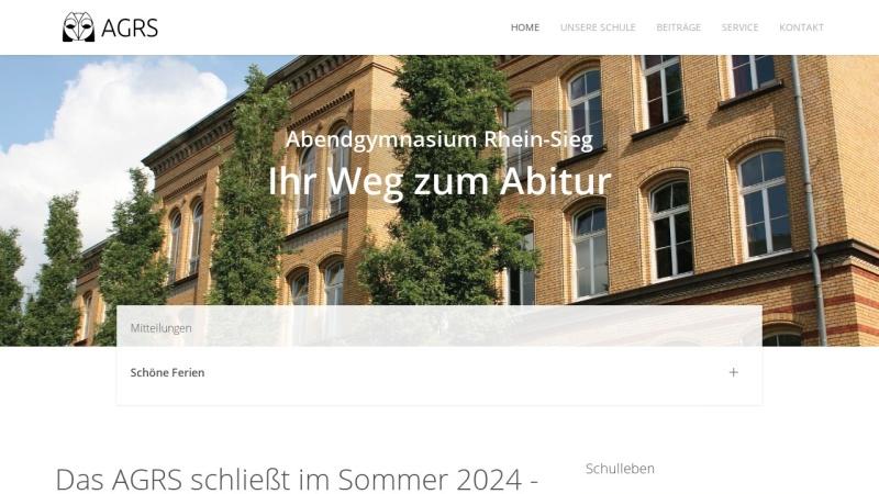 www.abendgymnasium-siegburg.de Vorschau, Abendgymnasium Rhein-Sieg (AGRS)