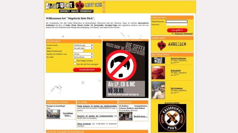 www.abgefuckt-liebt-dich.de Vorschau, Abgefuckt liebt Dich