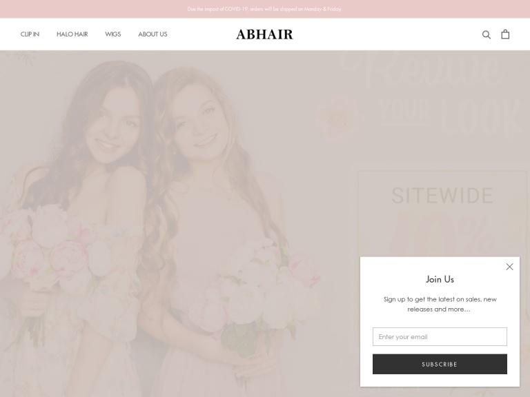 abHair.com Coupon Codes