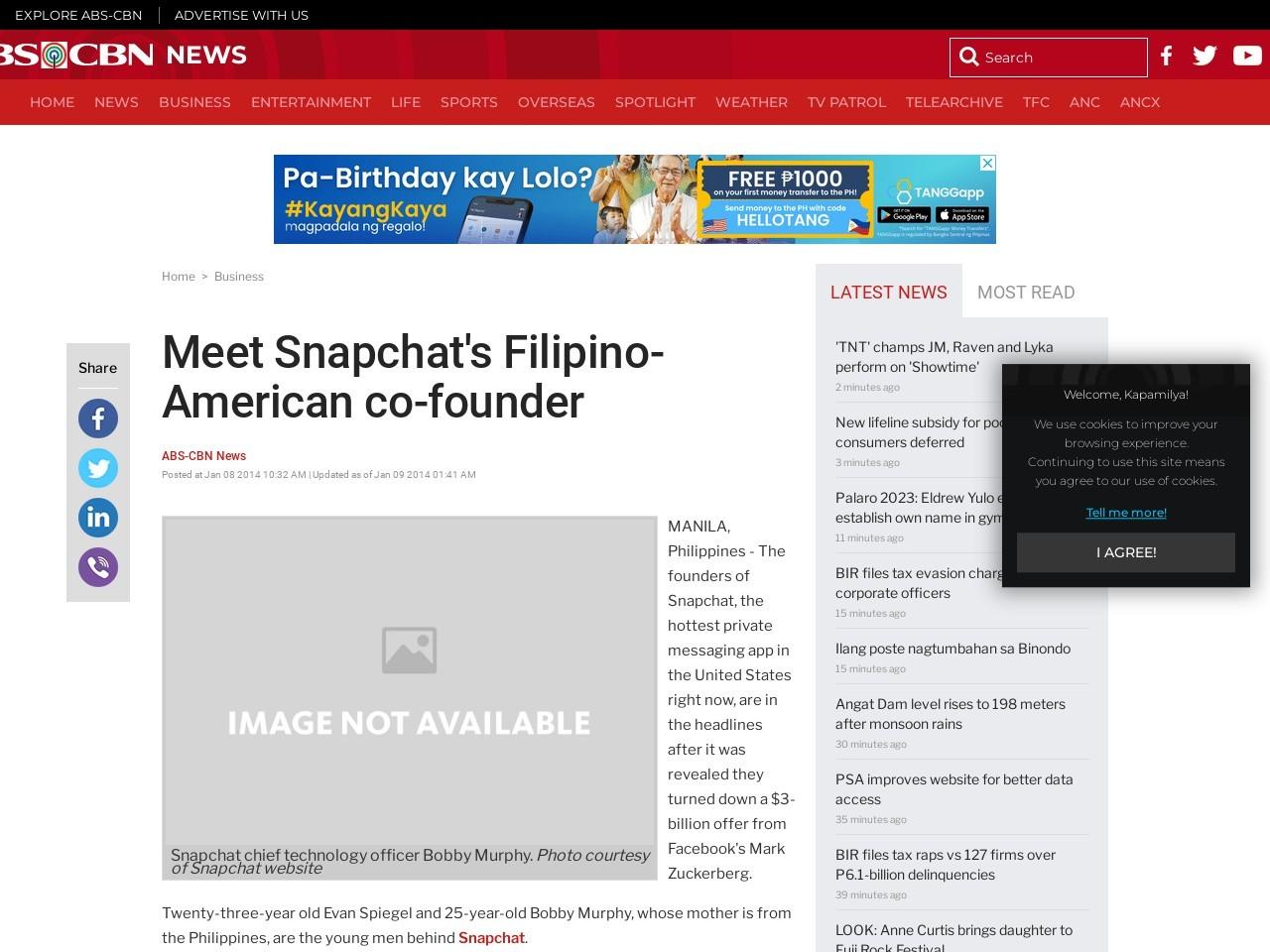 Meet Snapchat's Filipino-American co-founder