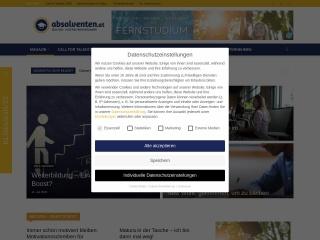 Screenshot der Website absolventen.at