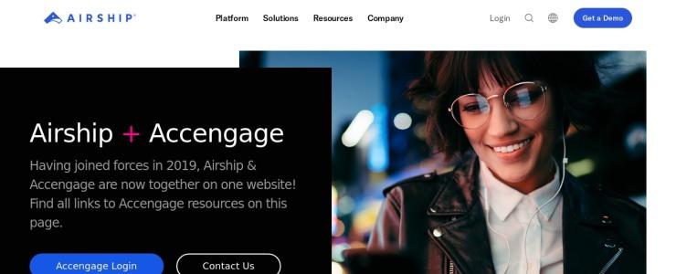 screenshot of Accengage